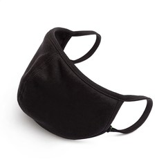 Cotton/Polyester Facemask 3 Layer Black